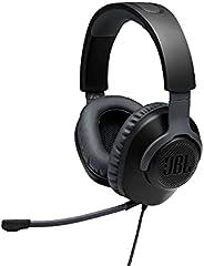 Fones de ouvido para jogos JBL Quantum 100 com fio, Preto, Large