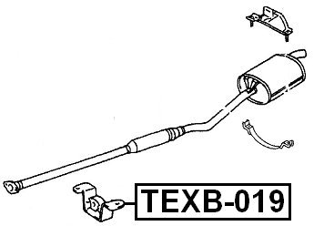1757174450 Exhaust Pipe Support For Toyota 17571-74450