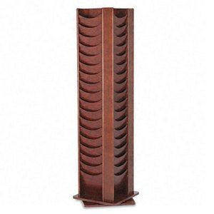 - Buddy Products 72 Pocket Solid Oak Rotating Literature Rack, 16.75 x 67.5 x 16.75 Inches, Mahogany (0616-16)
