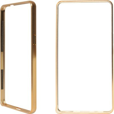 MACC Metal Dual Gold Line Bumper Case for Sony Xperia C3   Gold Cases   Covers