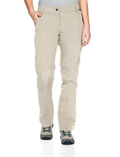 Jack Wolfskin Women's Marrakech Zip Off Pants, Light Sand, Size 42 (US 33/32)