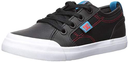 DC Boys' Evan SE Skate Shoe, Black/RED/Blue 7 M M US Big Kid ()