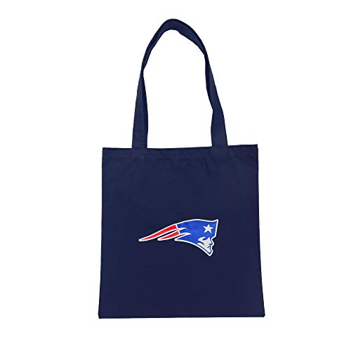 NFL Team Logo Unisex Canvas Tote Bag (New England Patriots)