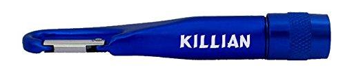 Personalisierte Taschenlampe mit Karabiner mit Aufschrift Killian (Vorname/Zuname/Spitzname) SHOPZEUS