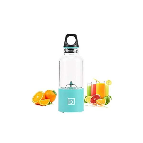 500ml 4 Lame Portatile Blender Blender Estrattore Di Succo Di Vetro A Mano Mixer Smoothie Blender Smoothie Usb… 6 spesavip