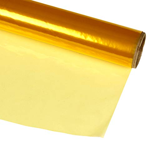 Hygloss Products Cellophane Roll - Cellophane Wrap for Crafts, Gifts, and Baskets 20 Inch x 12.5 Feet, Yellow
