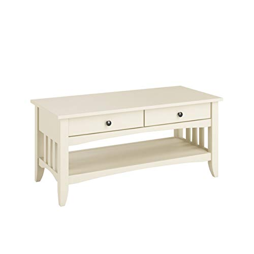 CORLIVING LXY-014-T Crestway Coffee Table, Antique White