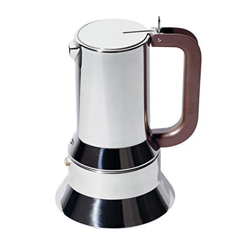 Alessi 9090/M Cafetera de Diseño de Acero Inoxidable, 10 Tazas