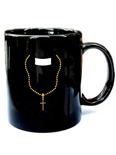 Preacher Costume Halloween - Funny Gift Black 11oz Ceramic Cozy Coffee Mug -