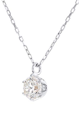 Diamond Necklace Solitaire Pendant for Women Choice of 18ct White Gold, Yellow Gold Rose Gold or Platinum (900) - Diamonds Certified Conflict Free and Natural (Platinum, 0.30)