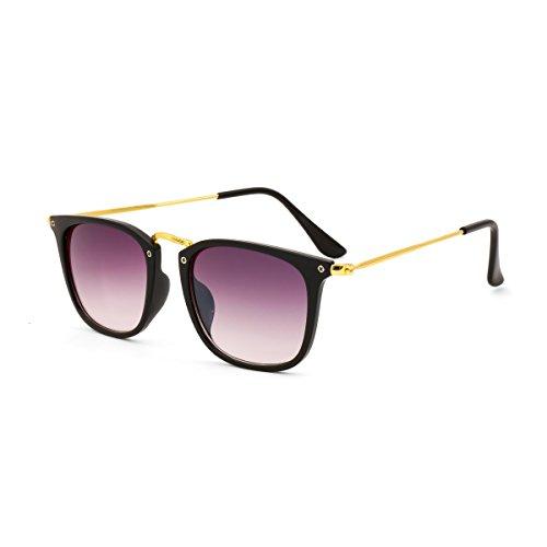 Royal Son UV Protected Square Unisex Sunglasses (WHAT3440|51|Black Lens)