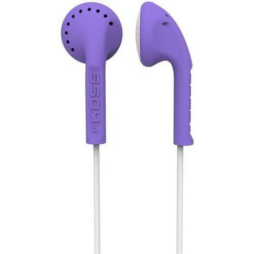Koss-headphones Ke10v Violet Stereo Earbuds Slim - Contour Design Soft Rubber Body by Koss