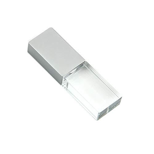 CHUYI Glass Crystal Shape 16GB USB 2.0 Flash Drive LED Pen Drive Memory Stick Thumb Drive Waterproof Jump Drive U Disk Gift (Champagne)