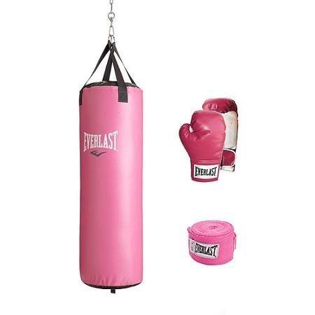 Everlast MMA 70 lb Women's Boxing Gear Heavy Bag Kit by Everlast