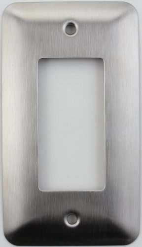 (Mulberry Princess Style Satin Stainless Steel One Gang GFI/Rocker Switch Plate)