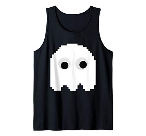 CHOMP! Googly Eyes 8 Bit Retro Arcade Game Ghost Tank Top