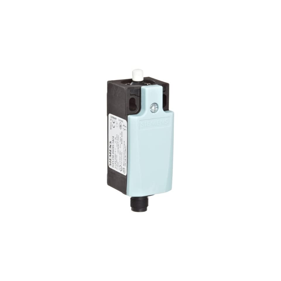 Siemens 3SE5 234 0HC05 1AC4 International Limit Switch Complete Unit, Plastic Enclosure, 31mm Width, Rounded Plunger, M12 Connector Socket, 4 Pole, Snap Action Contacts, Integrated, 1 NO + 1 NC Contacts