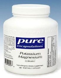 Pure Encapsulations Magnésium Potassium (citrate) - 180 gélules