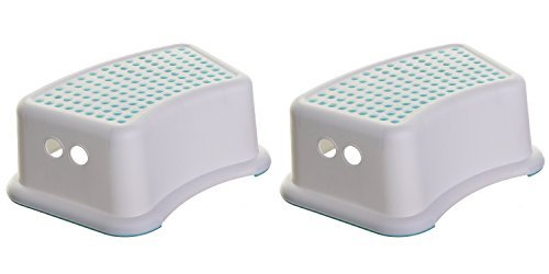 Dreambaby Step Stool for Toddlers and Kids - Use for Potty Training and to Wash Hands- Great for in Bathroom Kitchen and Crawling into Bed (1 Count) (2 Count)