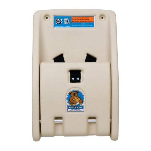 Koala Kare KB102-00 Wall-Mounted Child Protection Seat w/Safety Straps - Polyethylene, Cream - Koala Child Protection Seat