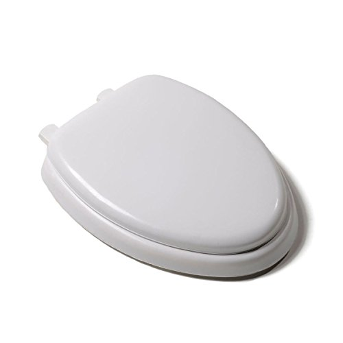 Soft Padded Toilet Seat - Trendy Heavy Duty Premium White Soft Padded Elongated Toilet Seat Cushioned Embossed Vinyl Cover Great For Your Bathroom Toilet