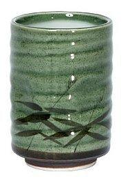 8 oz. Japanese Tea Cup Green Sasa