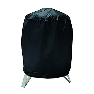 SunPatio Round Patio Smoker Cover,Dome Smoker Cover,Charcoal Smoker Cover,Fryer Cover,Kettle Grill Cover,Heavy Duty Waterproof Weather Resistant Durable Fabric,Black