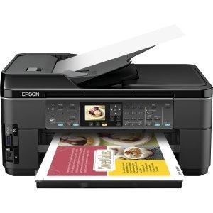 Scanner C11CA96201 Epson WorkForce WF-7510 Wireless All-in-One Wide-Format Color Inkjet Printer Copier Fax