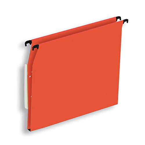 L'Oblique AZ Boîte de 25 dossiers suspendus armoire fond 15 mm kraft orange