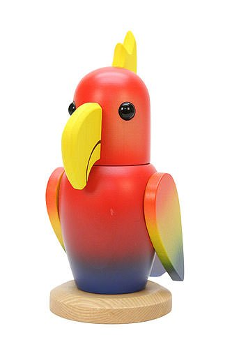 German Christmas Nutcracker Parrot - 20,5cm / 8inch - Christian Ulbricht by Authentic German Erzgebirge Handcraft