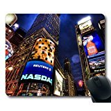 Wenfoller nasdaq stock market new york rubber mouse pad 9 Inch(220mm) X 7 Inch(180mm) X 1/8 Inch(3mm)