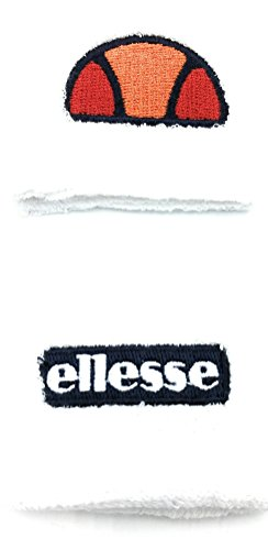 Ellesse Tennis 2 Inches Wristbands Sweatbands (White)