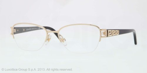 f46229f8851a VERSACE Eyeglasses VE 1215B 1002 Gold 51MM  Amazon.co.uk  Clothing