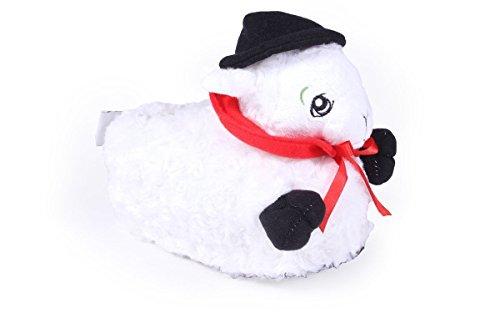 Adult Bottoms Baby (Happy Feet 9085-5 - Fleece Navidad - XX Large Animal Slippers)