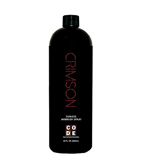 Crimson Sunless Solution By Color On Demand Essentials - Beautiful, Natural Cocoa Color (32oz Liter)