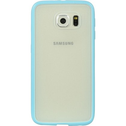 Samsung Galaxy S6 (2015 Samsung New Flagship Android Phone; US Carrier: Verizon Wireless, AT&T, Sprint, and T-Mobile) Phone Case - Premium colored border and transparent rear cover case + Car Charger + Screen Protector Film + 1 of New Metal Stylus Touch S