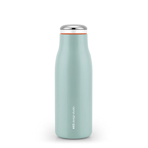 AKS Vacuum Insulated Water Bottle, Double Wall Stainless Steel Travel Mug (12oz, Green) Soap 12 Ounce Bottle