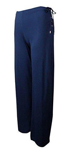 Lauren Ralph Lauren Women's Wide Leg Lace Up Jersey Pants (3X, (Ralph Lauren Pinstripe Suit)