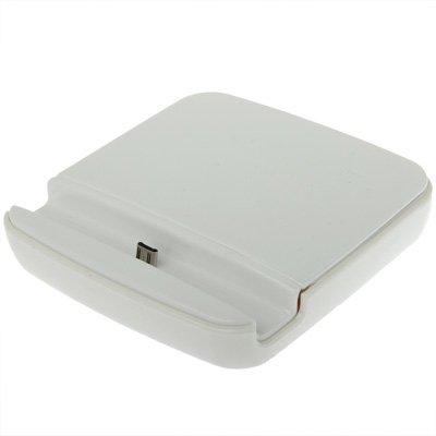 Mxnet Dual Sync Ladegerät Dock Cradle mit Halter für Samsung Galaxy Note II / N7100 rutschsicher Telefon-Kasten ( Color : White )