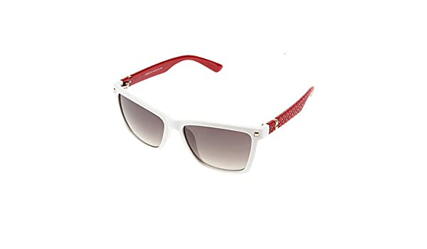 3a3cf86834 get LANGTEMENG Women s Brown Lens Red   White Frame Polarized Square  Sunglasses  Amazon.ca  Clothing   Accessories