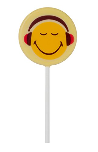 Smiley World Emoji Face Expressions Dairy White Chocolate Lollipops Sucker