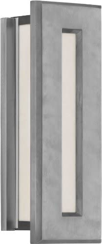 Feiss ODWB4320BRAL 2-Bulb Outdoor Wall Lantern, Brushed Aluminum Finish