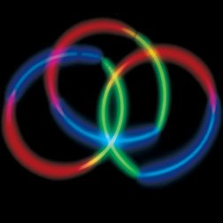 (Glow Necklace Light Rope 22 Inch Tri-Color)