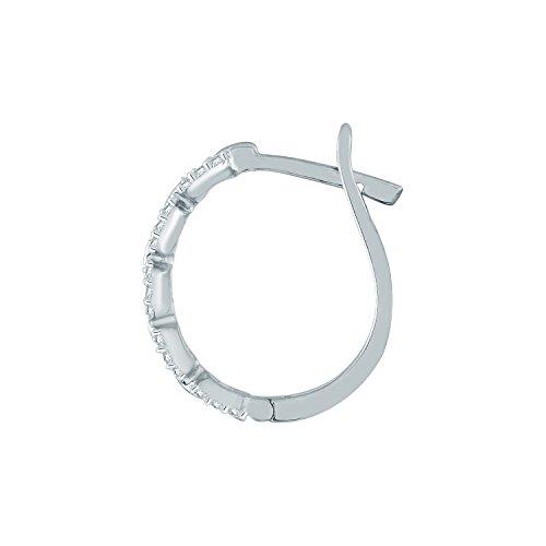 Giantti Diamant pour femme Boucles d'oreilles créoles (0.24CT, VS Clarté, Gh-colour)