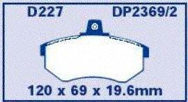 EBC Brakes DP2369//2 Greenstuff 2000 Series Sport Brake Pad