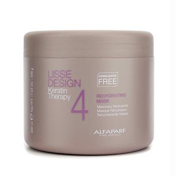 ALFA PARF Lisse Design Keratin Therapy Rehydrating Mask for Unisex, 17.63 Ounce by AlfaParf