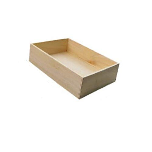 (RRS Red red Shop Storage Box Camphor Wood Underwear Storage Box Compartment Home Bra Underwear Socks Drawer Storage Box (Style : One Grid) )