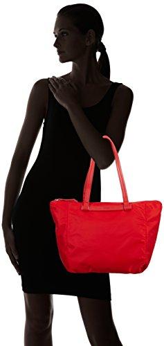Femme Rouge Zip Tote Rouge Nylon Black Barcelona Sac BREE 150 9 wq64Tn7