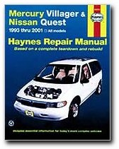 Mercury Villager and Nissan Quest, 1993-2001 (Haynes Repair Manuals)
