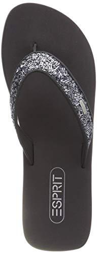 Donna Ciabatte Grigio 015 gunmetal Straws Glitter Esprit qtxFOF